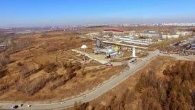 Rusia, Novosibirsk - abril de 2019, planetario aéreo del lanzamiento metrajes