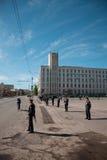 RUSIA, PENZA - 1 DE MAYO: Demostración del día de mayo Fotografía de archivo libre de regalías
