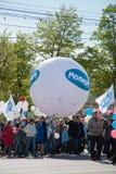 RUSIA, PENZA - 1 DE MAYO: Demostración del día de mayo Fotos de archivo libres de regalías