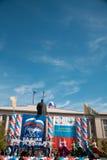 RUSIA, PENZA - 1 DE MAYO: Demostración del día de mayo Imagen de archivo