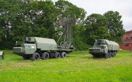 Rusia Petersburgo julio de 2016 el museo de las ubicaciones y del suministro de energía de la máquina de la artillería Imagenes de archivo