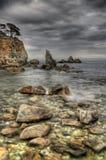 Rusia, Primorye, mar tempestuoso Foto de archivo libre de regalías