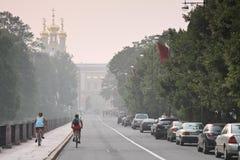 Rusia: Pushkin (Tsarskoe Selo) Fotos de archivo libres de regalías