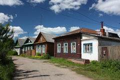 Rusia, región de Yaroslavl. Calle en Pereslavl. Fotografía de archivo
