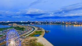 Rusia, República de Tartaristán, Kazán, tiempo traslapa, igualando la ciudad metrajes