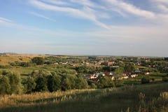 Rusia, república del Chuvash. Vista de una pequeña aldea. Foto de archivo