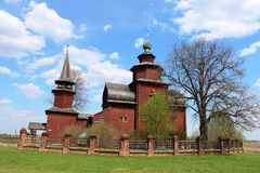 Rusia, Rostov Veliky: Iglesia ortodoxa de madera fotos de archivo libres de regalías