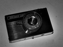 Rusia samara 30 de abril de 2017 Auto viejo de Viliya de la empresa de la cámara de la película en una imagen retra Fotografía de archivo libre de regalías