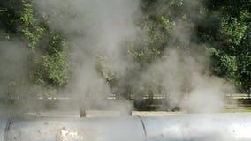 Rusia samara Tema de la contaminaci?n atmosf?rica y del cambio de clima Ambiente pobre en la ciudad Desastre ambiental da?oso metrajes