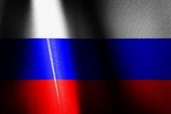 Rusia señala imágenes por medio de una bandera Foto de archivo libre de regalías
