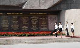RUSIA, SEVASTOPOL - SEPTIEMBRE 18,2014: Monumento de la defensa heroica de Sevastopol 1941-1942 años Imágenes de archivo libres de regalías