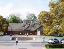 RUSIA, SEVASTOPOL, SEPTIEMBRE, 18,2014: Vista del monumento de la defensa heroica de Sevastopol 1941-1942 años Imagen de archivo libre de regalías