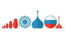 Rusia Sistema del icono Fotografía de archivo libre de regalías