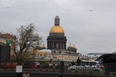 Rusia, St Petersburg, catedral del ` s del St Isaac imagen de archivo