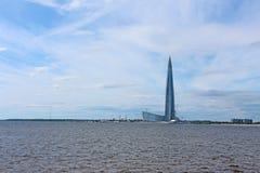 Rusia, St Petersburg, construcción de un rascacielos foto de archivo
