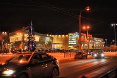 Rusia, St Petersburg, 27,01,2013 el centro comercial moderno Imágenes de archivo libres de regalías