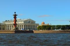 Rusia, St Petersburg, flecha Fotografía de archivo