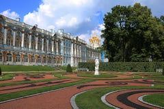 Rusia, St Petersburg, la ciudad de Pushkin Julio, 13,2018 En la foto Ekaterina Palace imágenes de archivo libres de regalías