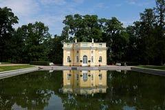 Rusia, St Petersburg, la ciudad de Pushkin Julio, 13,2018 En la foto Ekaterina Palace fotografía de archivo libre de regalías
