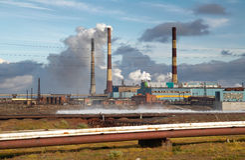 Rusia. Taimyr. Norilsk. Desastre ecológico Imagen de archivo