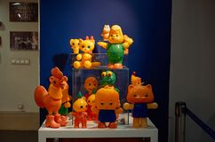 Rusia Toy Museum en la tienda central del ` s de los niños 11 de febrero de 2018 Foto de archivo