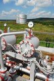 Rusia. Unidad de la instalación en campo petrolífero Fotos de archivo libres de regalías