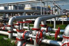 Rusia. Unidad de la instalación en campo petrolífero Imágenes de archivo libres de regalías