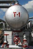 Rusia. Unidad de la instalación en campo petrolífero Imagen de archivo libre de regalías