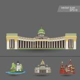Rusia Vector Silueta icono Imágenes de archivo libres de regalías