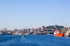 Rusia. Vladivostok portuario. Foto de archivo libre de regalías