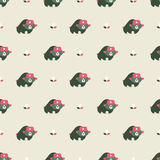 Rusian bear seamless pattern Royalty Free Stock Photography