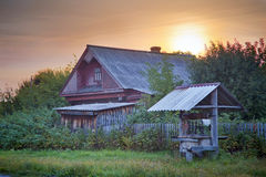 Rusian village Stock Image