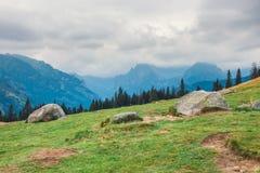 Rusinowa glänta, härligt ställe i polska Tatras royaltyfri bild