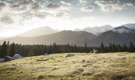 Rusinowa glade in Tatra mountains Stock Photo