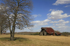 Rusitic Barn In Rural Tennessee Royalty Free Stock Image