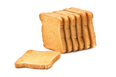Rusk. Isolated on white background Royalty Free Stock Photo