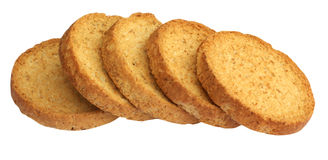Rusk. Series of rusk, isolated on background Stock Photos