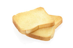 Rusk bread. Isolated on white, clipping path included Royalty Free Stock Photos