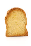 Rusk bread slice. Close up of rusk bread slice on white Royalty Free Stock Photos