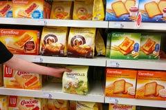 Rusk chleb w sklepie Fotografia Royalty Free