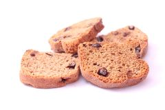 Rusk with chocolate Royalty Free Stock Photos