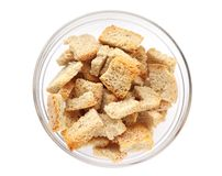 Rusk on glass plate isolated Stock Images