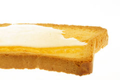 Rusk and honey Stock Image