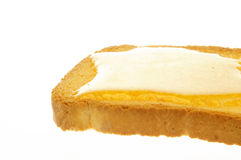 Rusk and honey Royalty Free Stock Photography