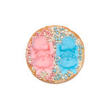 Rusk with mice for a girl and boy twins Royalty Free Stock Photos
