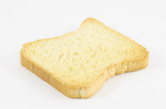 Rusk. One rusk on white background Royalty Free Stock Photography
