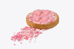 Rusk with pink mice for girl twins Royalty Free Stock Images