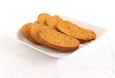 Rusks on a Plate Royalty Free Stock Photo