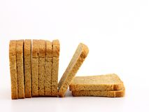 Rusk slices. On white isolated background Royalty Free Stock Photo