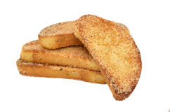 Rusk with sugar Stock Images